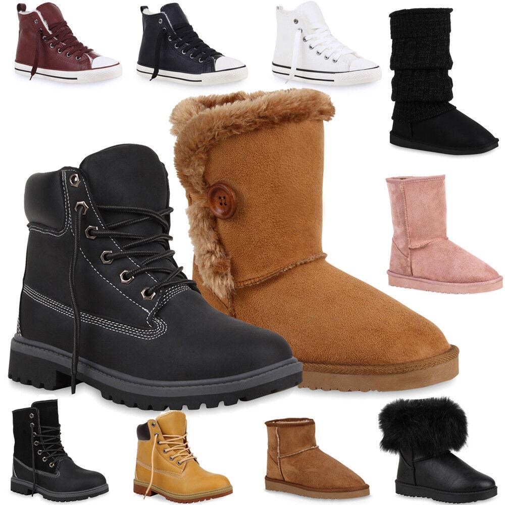 Gefütterte Damen & Herren Boots Schlupfstiefel Sneakers High Top 890415 Gr.36-45