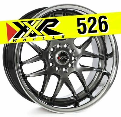 XXR WHEELS 526 18X9 5X114.3//5X120 ET35 Hyper Blk//Sainless Steel Chrm Qty of 1