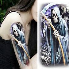 Reaper Skull Moon Cross Arm Leg Body Art Waterproof Temporary Tattoo Sticker