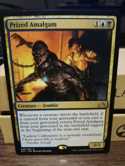 PRIZED AMALGAM NM mtg Shadows Over Innistrad Gold - Creature Zombie Rare