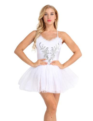 Women Professional Ballet Tutu Leotard Dress Performance Swan Lake Dance Costume