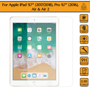 """Genuine Tempered Glass Screen Protector For APPLE iPad 2018 9.7/"""" BUY1 GET 1 FREE"""