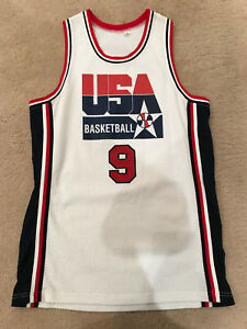 new style fef13 94f29 Details about Michael Jordan Dream Team 1992 USA Barcelona Olympic white  jersey XL Extra Large