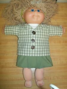 "3 pc BACK TO SCHOOL OUTFIT for 20/"" TRU cabbage patch cpk kids shirt jacket pants"