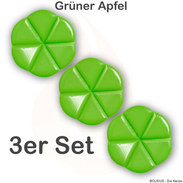 Duftmelts Bolsius Creations 3er Set Grüner Apfel - Aromamelts, Duftwachs
