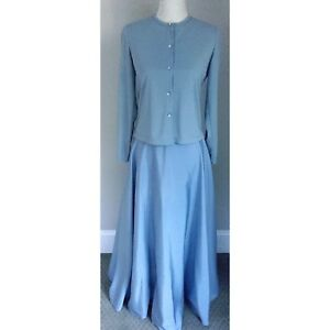 Women S Size 6 Js Collection Sky Blue Dress Suit W Stretch Sweater