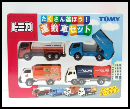TOMICA TRUCK COLLECTION BOX SET OF 4 TANK TOMY DIECAST CAR
