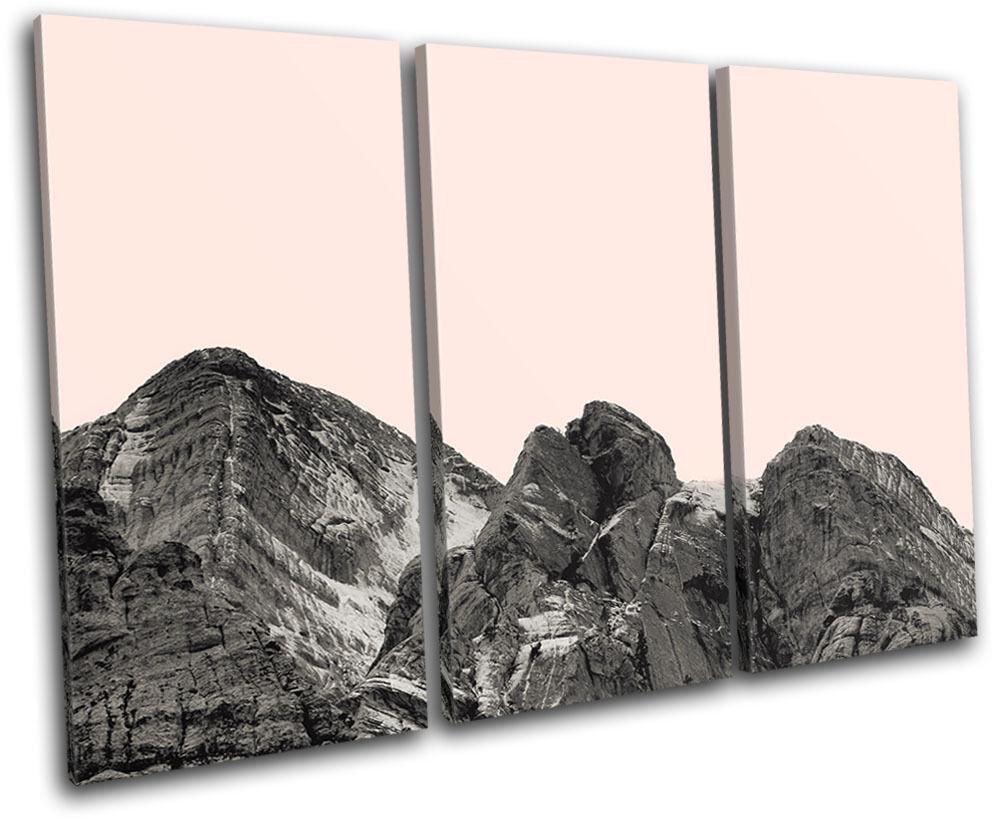 Mountain Modern Simple Colour Landscapes TREBLE Leinwand Wand Kunst Bild drucken