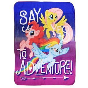 Hasbro-My-Little-Pony-Girls-Fleece-Throw-Blanket-46-039-039-x60-039-039-NEW