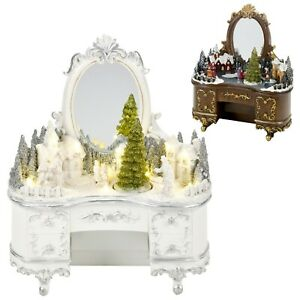 DEL-Light-up-Noel-fete-village-Lumineux-Decoration-Commode-ornement