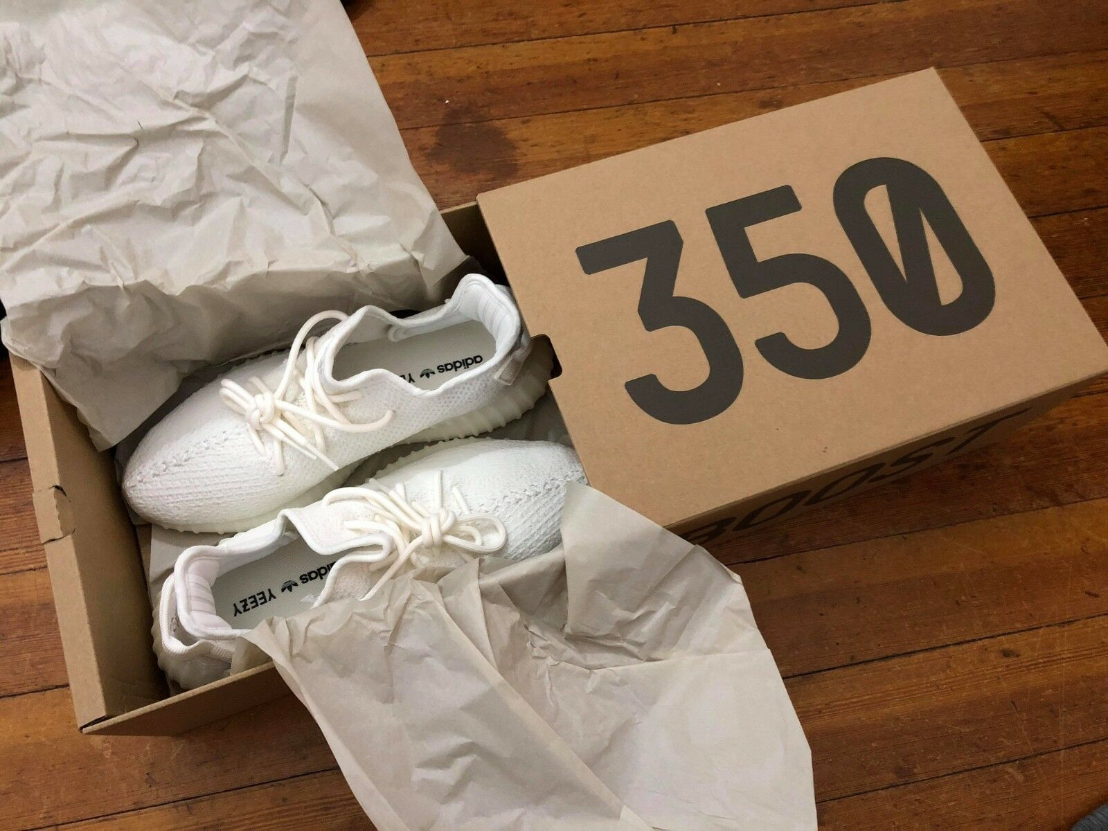 Adidas yeezy auftrieb 350 v2 triple triple triple weiße creme cp9366 größe 10. 6ff99a