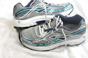 d6258770c3c Brooks Dyad 6 Grey Blue Wht Womens sz 8 B M 39 Running Shoes ...