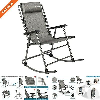 Groovy Zero Gravity Folding Rocking Chair Patio Lawn Reclining Camping Fishing Beach Ebay Gmtry Best Dining Table And Chair Ideas Images Gmtryco