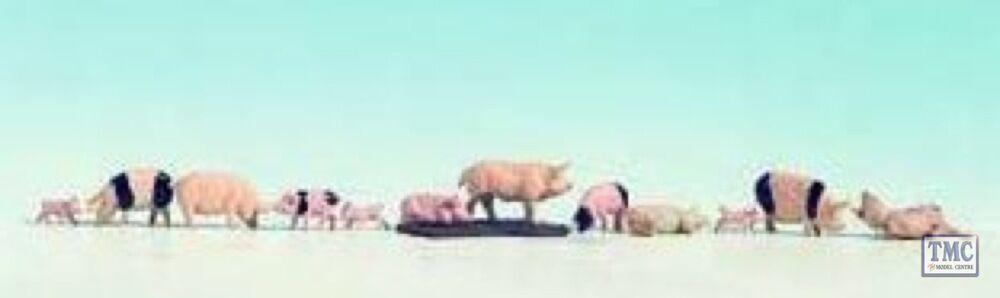 N36712 Noch N Scale Pigs (12)