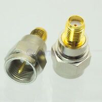 1pce F male plug to SMA female jack gold plated RF coaxial adapter connector