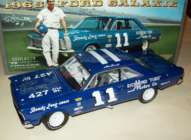 Ned Jarrett 1965 Ford Galaxie  11 Richmond Motor Signed Cargraph 1 24 Legends