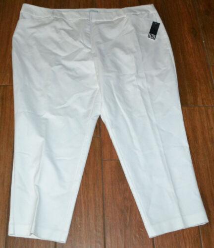 Liz Claiborne Woman Emma Ankle Pants CHOICE White  18W OR 22W OR 24W