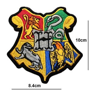 HOGWARTS HOUSE CREST HARRY POTTER IRON OR SEW ON PATCH EMBROIDERED BADGE LOGO