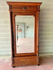 Armadio con specchio in noce fine 1800 Napoleone III francese