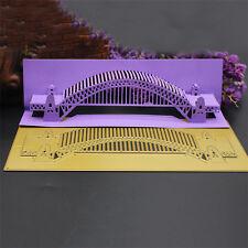 3D Brücke Cutting Dies Stencil DIY Scrapbook Album Karte Tagebuch Stanzschablone