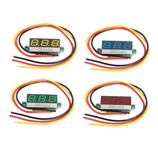 DC 0-100V Wires LED 3-Digital Mini Voltmeter Meter Display Voltage Panel Test DE