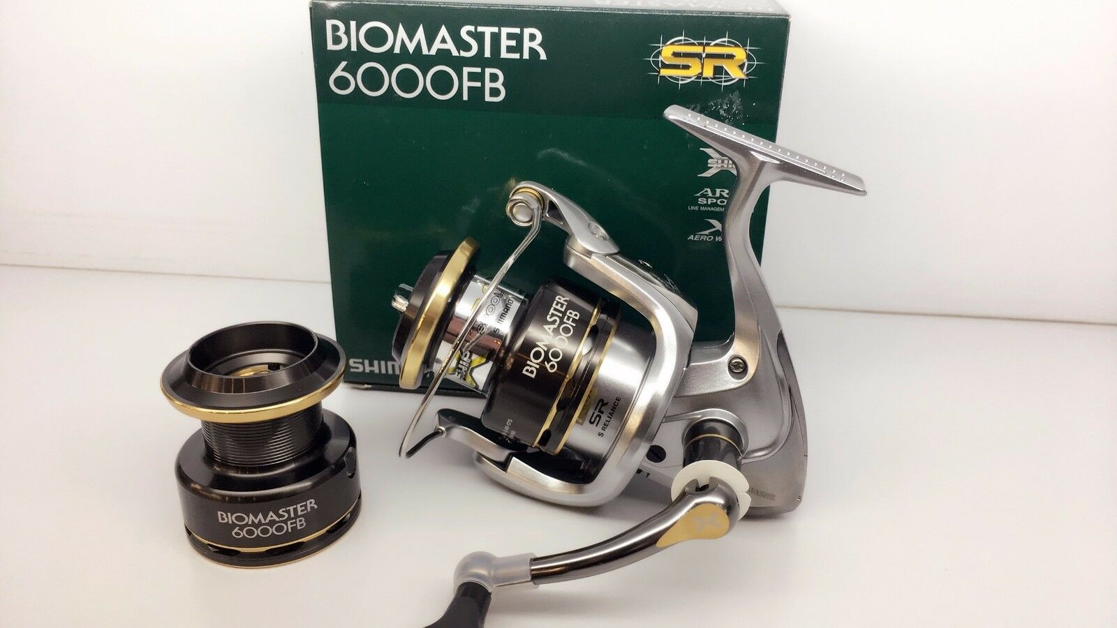 Shimano Biomaster 6000FB Gratis Cocherete De Repuesto 6000 FB Reel Prioridad FEDEX a EE. UU.