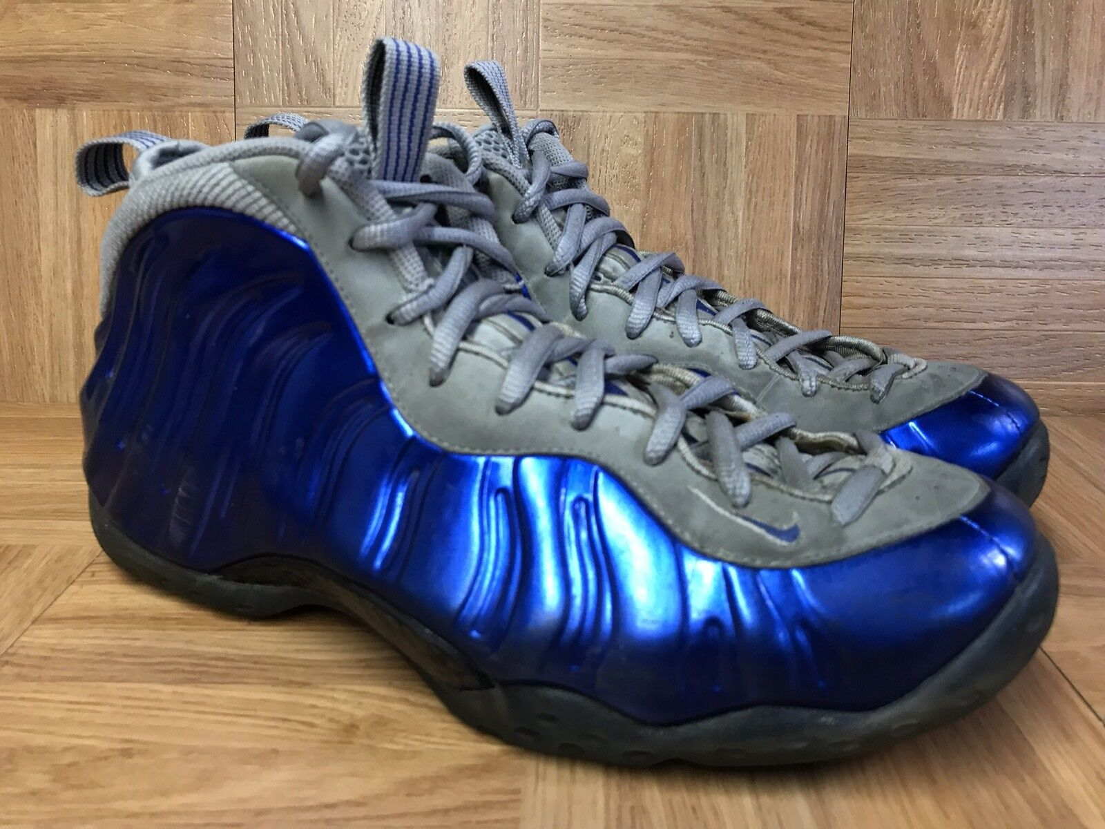 255612a769471 Nike Air Foamposite One Size 10.5 Sports Royal Wolg Grey 314996 401 ...