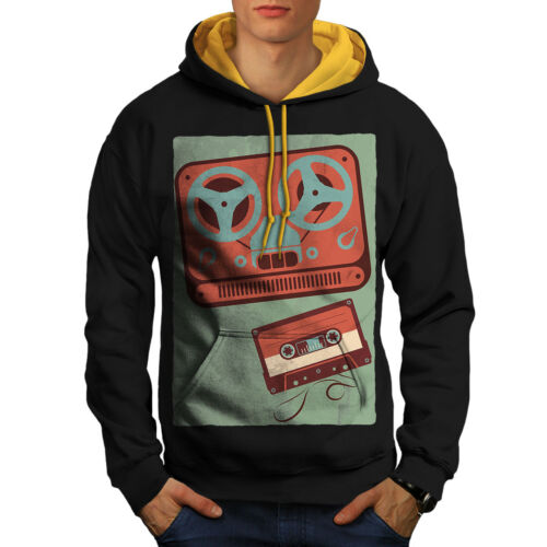 Negro con capucha Music Contraste Retro Mix Nuevo oro Hood Old Tape Men fFzzaq