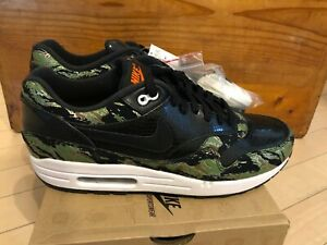 Details about 2013 Nike Air Max 1 PRM Atmos Tiger Camo Green Black Orange Safari sz 11