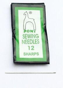 50PCS Pony Beading Needle #10 Sharp English-Style High Quality-Beading Supplies