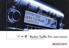 Prospekt Becker Traffic Pro High Speed 5 2003 brochure Autoradio Navigation