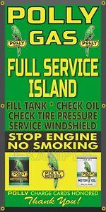 Polly Gasoline service complet ISLAND Gas Station Old SIGNE remake Bannière Art 2'X4'-afficher le titre d`origine 1WbvehQi-09090721-185460050