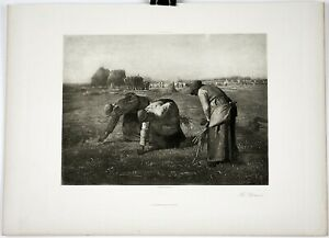 JEAN-FRANCOIS-MILLET-Print-Photogravure-French-Engraving-1800s-15-5-034-x-11-5-034