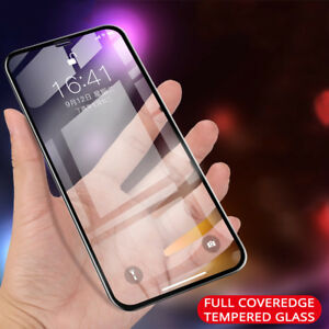 For iPhone XS Max XR 9H Full Coverage Tempered Glass Screen Protector Guard Film
