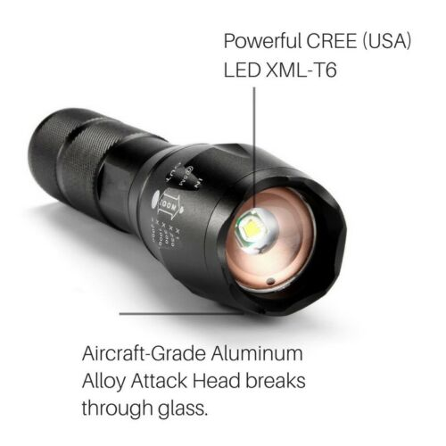 ULTRAFIRE CREE LED XML T6 Tactical Torch RECHARGEABLE 18650 Battery Camping Hike