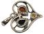 thumbnail 4 - Heart Pendant Genuine Baltic Cognac Brown Amber 925 Sterling Silver  # 51