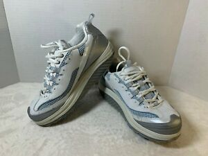 Sketchers-Shape-Ups-Women-039-s-Fitness-Shoes-Size-7-5-US-White-Silver-11803