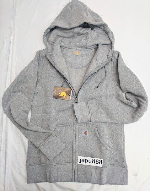 Carhartt Ladies Sandpointe  Zip Front Sweatshirt sz LARGE Asphalt [BX76-2189)