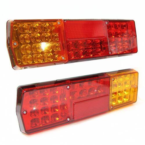 12v  24v Set Of Led Rear Tail Lights Truck Lorry Trailer Tipper Kamaz