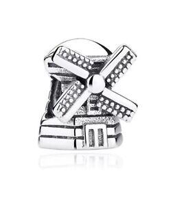 GENUINE-PANDORA-DUTCH-WINDMILL-CHARM-RETIRED-791297