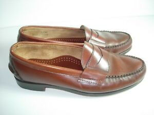 23c245e167 MENS BROWN LEATHER COLE HAAN PENNY LOAFERS CASUAL DRESS SHOES SIZE ...