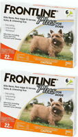 Frontline Plus For Dogs Flea & Tick 0-22 Lbs Orange 12 Month on Sale