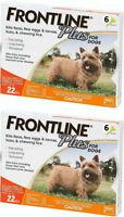 Frontline Plus For Dogs Flea & Tick 0-22 Lbs Orange 12 Month on Sale