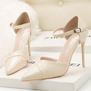 66973cbda3923 Caricamento dell immagine in corso decolte-sandali-10-cm-eleganti-stiletto- eleganti-panna-