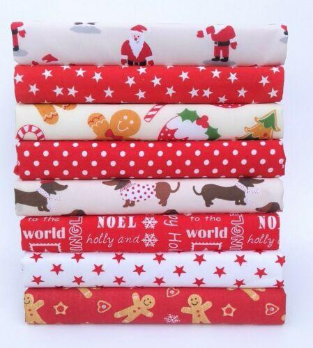 Tela de costura de elaboración de Navidad para niños Material De Algodón polivinílico Paquete de 8