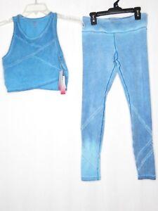 Pink Lotus Baby Blue Small Yoga Pants Medium Top Gymnastic 744743699359 Ebay