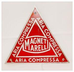 Targa-Pubblicitaria-Latta-Serigrafata-Vintage-MAGNETI-MARELLI-ARIA-COMPRESSA-70