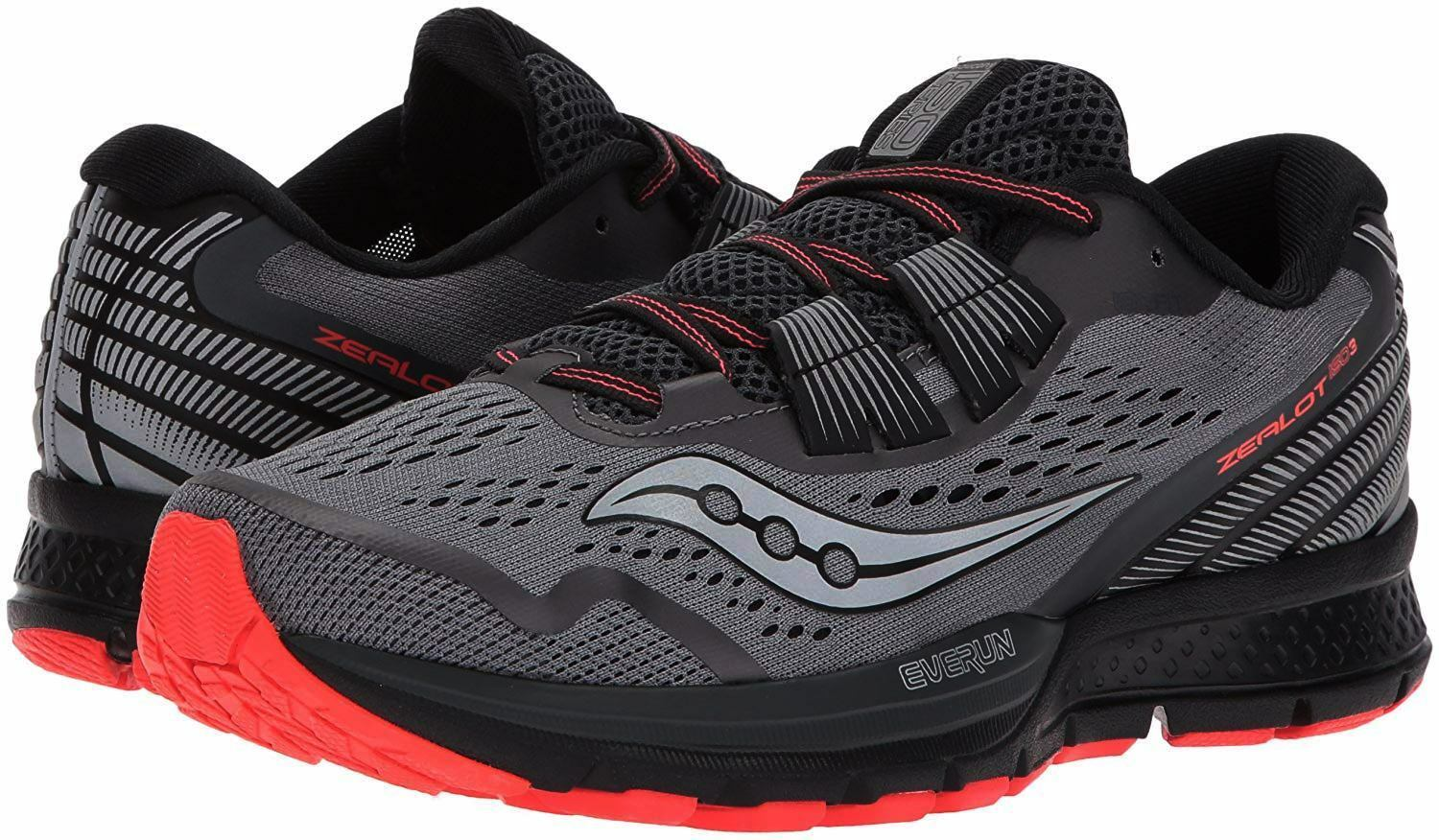 NEW WOMENS SAUCONY ZEALOT ISO 2 REFLEX RUNNING SHOES 9   AUTHENTIC