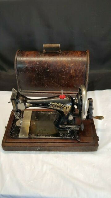 Singer Model 28 Series Hand Sewing Machine and Case