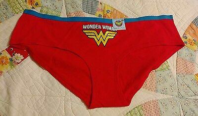 DC COMICS WONDER WOMAN SUPER HERO RED/BLUE LOGO PANTY WOMENS SIZE (9) XXL/2XG